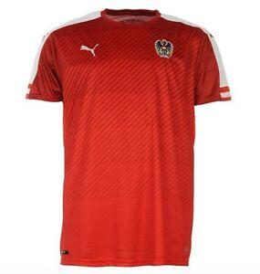 Puma-Austria-Em-2016-Camiseta-Heim-Rojo-Blanco-Talla-XL-Nuevo-con-Etiqueta