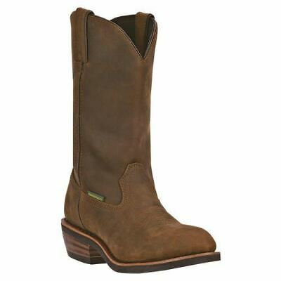 62f060874ae Dan Post Men's Steel Toe Albuquerque Work Leather Boots DP69691 Mid Brown |  eBay