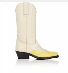 711c90aa43a Details about NEW Calvin Klein BY RAF SIMONS 205W39NYC SZ 36/6 Leather  Cowboy Boots $1295