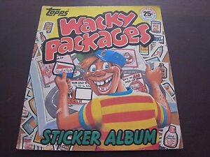 1982 TOPPS WACKY PACKERS STICKER ALBUM