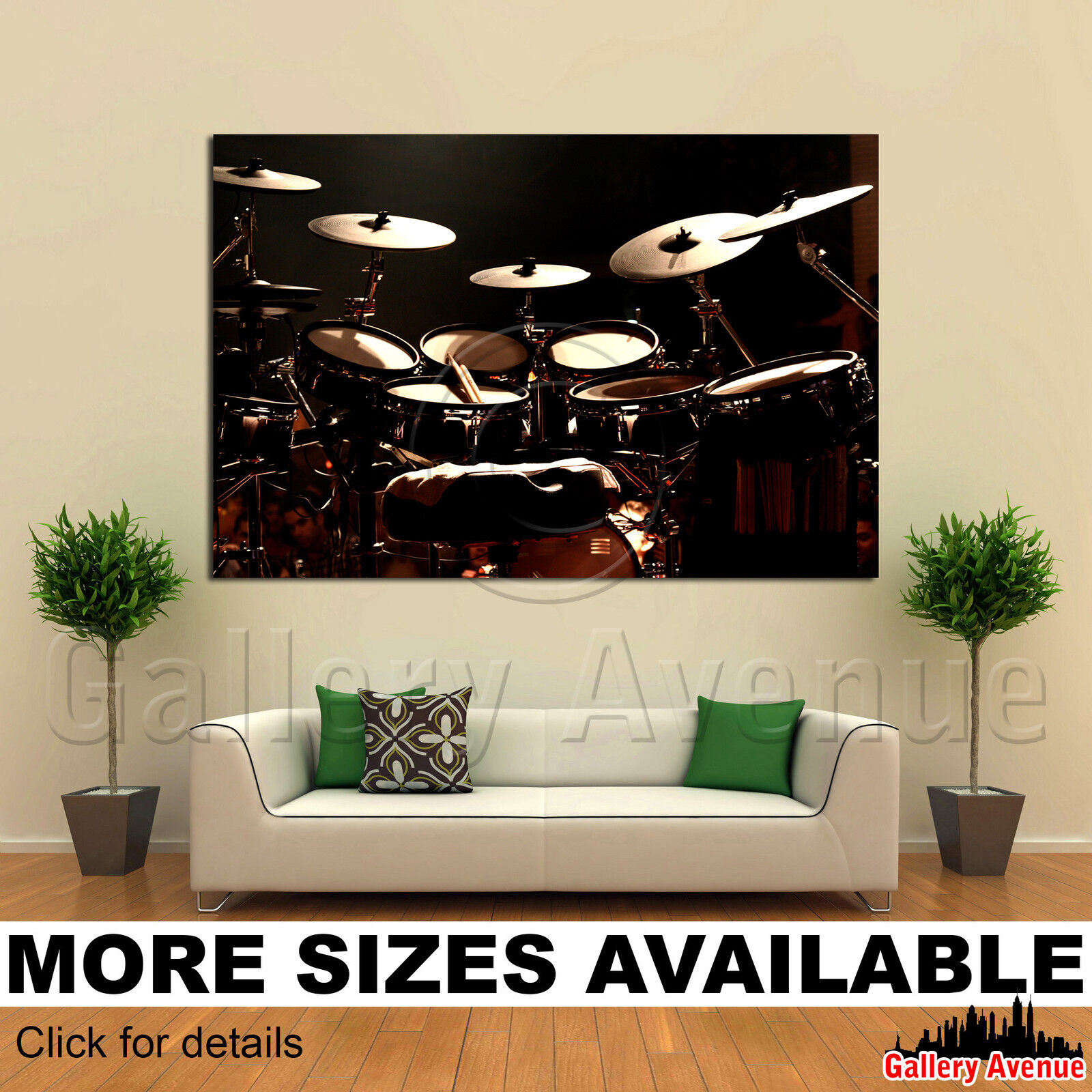 A Wall Art Canvas Picture Print - Electronic Drums Omar Hakim 3.2