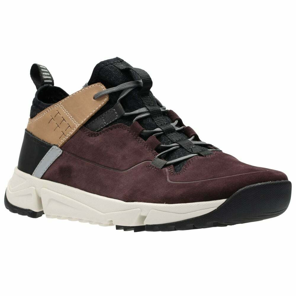 Clarks Mens ** SPORTY Tritrack Rise Burgundy Combi Boots ** UK 9,10,11 G