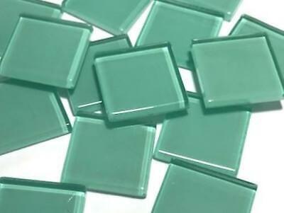 Green Glass Mosaic Tiles 2.5cm No. 3 Art Craft Supplies