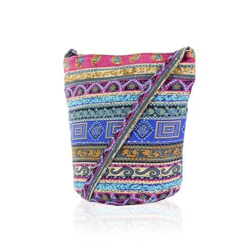 Womens Canvas Print Messenger Tote Cross Body Shoulder Handbag Purse Ladies Bag