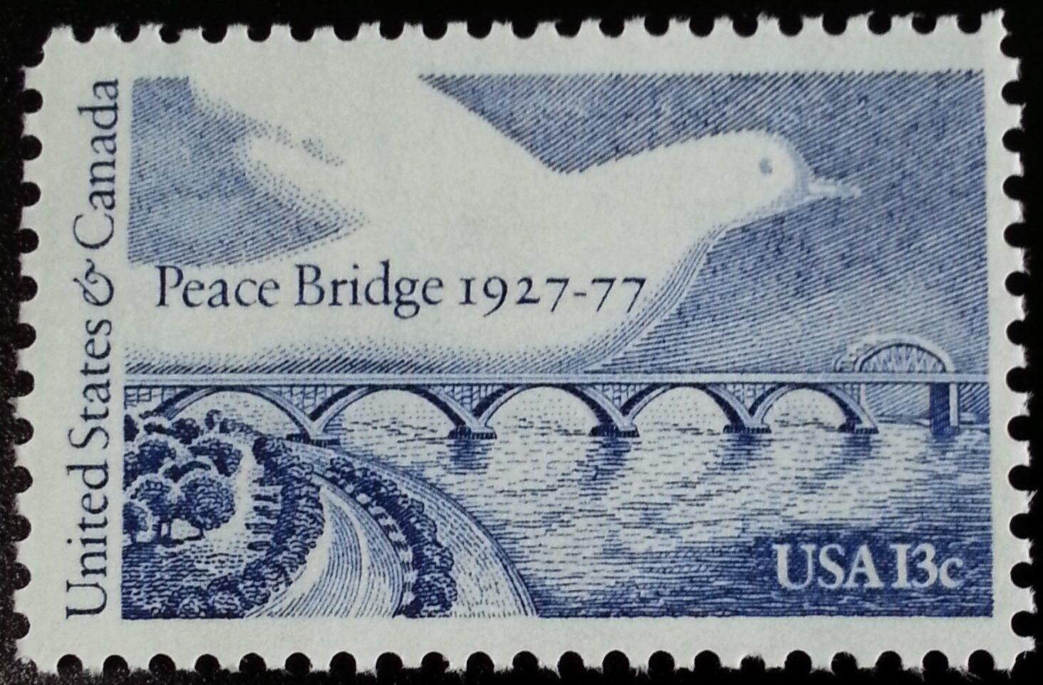 1977 13c United States & Canada, Peace Bridge, 50th Sco