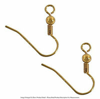 10 Pair 22k Gold Plated 19mm Ball Style Earring Hooks Jewelry
