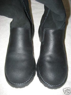 NEW SKECHERS schwarz schwarz schwarz leather faux fur trim Stiefel 6 M 677406