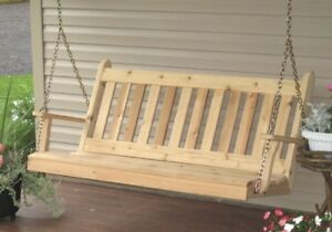 Image Is Loading Outdoor 6 Foot Traditional English Porch Swing Unfinished