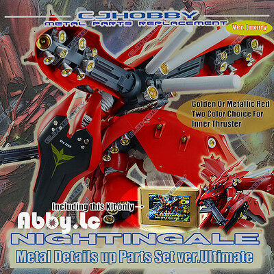 Luxury Gunpla Metal Detail-up Parts Set for MG RE 1/100 Nightingale Gundam Model