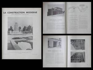 CONSTRUCTION-MODERNE-n-5-1936-FONTAINES-PARIS-ECOLE-DOUMER-LA-ROCHELLE-AUTEUIL