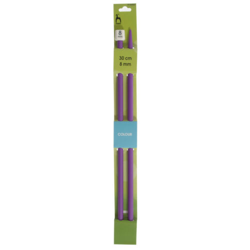 23 sizes in total New Pony 35cm coloured knitting needle sizes from 2mm to 25mm