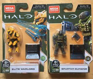 Halo Mega Construx Heroes Series 13 GVP39 ELITE WARRIOR AND GUNGIR