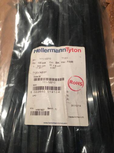 UK Made Auto Garden DIY 100 x Strong Heavy Duty Hellerman Tyton Cable Ties