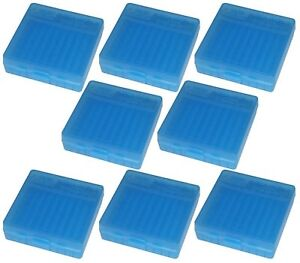 Details about NEW MTM 100 Round Flip-Top 380/9MM Ammo Box - Clear Blue (8  Pack)