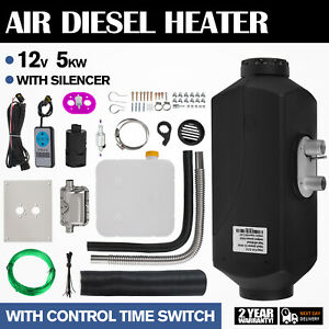 5KW-12V-Air-Diesel-Heater-Timing-Temperature-Control-Fuel-line-Trailer-Truck