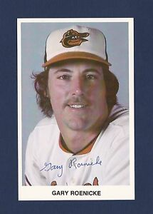 Details About Gary Roenicke Signed Baltimore Orioles Vintage Team Issued Baseball Postcard