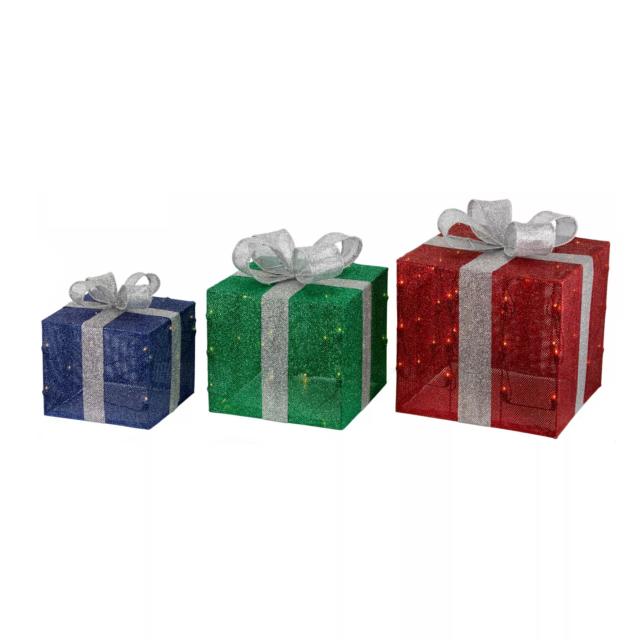 3ct Christmas Incandescent Gift Box Novelty Sculpture - Wondershop™ - BT035 | eBay