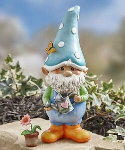 Garden-Gnome-Decorative-Man-Lawn-Statue-with-Flower-Pot-Gnorm