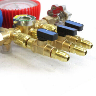 3X R410a R134a Shut Ball Valve For A//C Charging Hoses HVAC 1//4/'/' Refrigerant