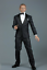"1//6 Agent Noir Smoking Set Pour 12/"" figure masculine HOT TOYS 007 James Bond ❶ USA ❶"