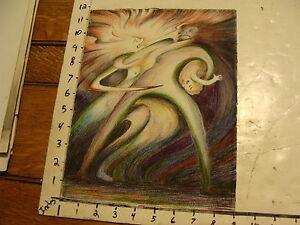 L.H. HART art: trippy Woman screaming, Man taking baby,