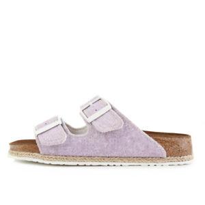 Details zu Papillio by Birkenstock Arizona BF Beach Purple Schuhe Sandalen Pantoletten Lila