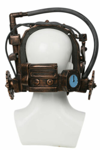 SAW Reverse Bear Trap Bronze Jaw Trap Horror Cosplay Mask Costume Props Helmet