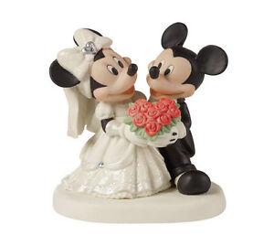 Bride Groom Mickey Minnie Mouse Precious Moments Wedding Dress Tux ...