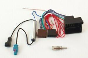 Radio-Cable-Adaptateur-Convient-Pour-Audi-Skoda-Seat-Vw-Quadlock-Fantome-DIN-ISO-Top