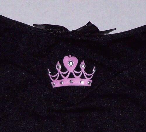 Nwt New Capezio Disney Princess Leotard Leo Short Sleeve Tiara Crown Black Girl