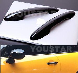 UK-STOCK-X2-GLOSS-BLACK-Door-Handle-Covers-for-MINI-Cooper-S-JCW-2014-on-F56-F57