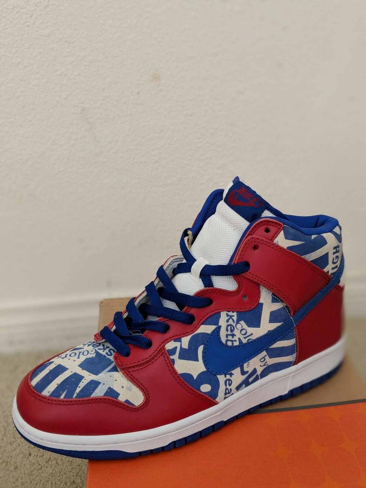 DS NIKE 2018 DUNK HI NEWSPAPER VARSITY RED 10 PRO SB SUPREME LUCKY New shoes for men and women, limited time discount