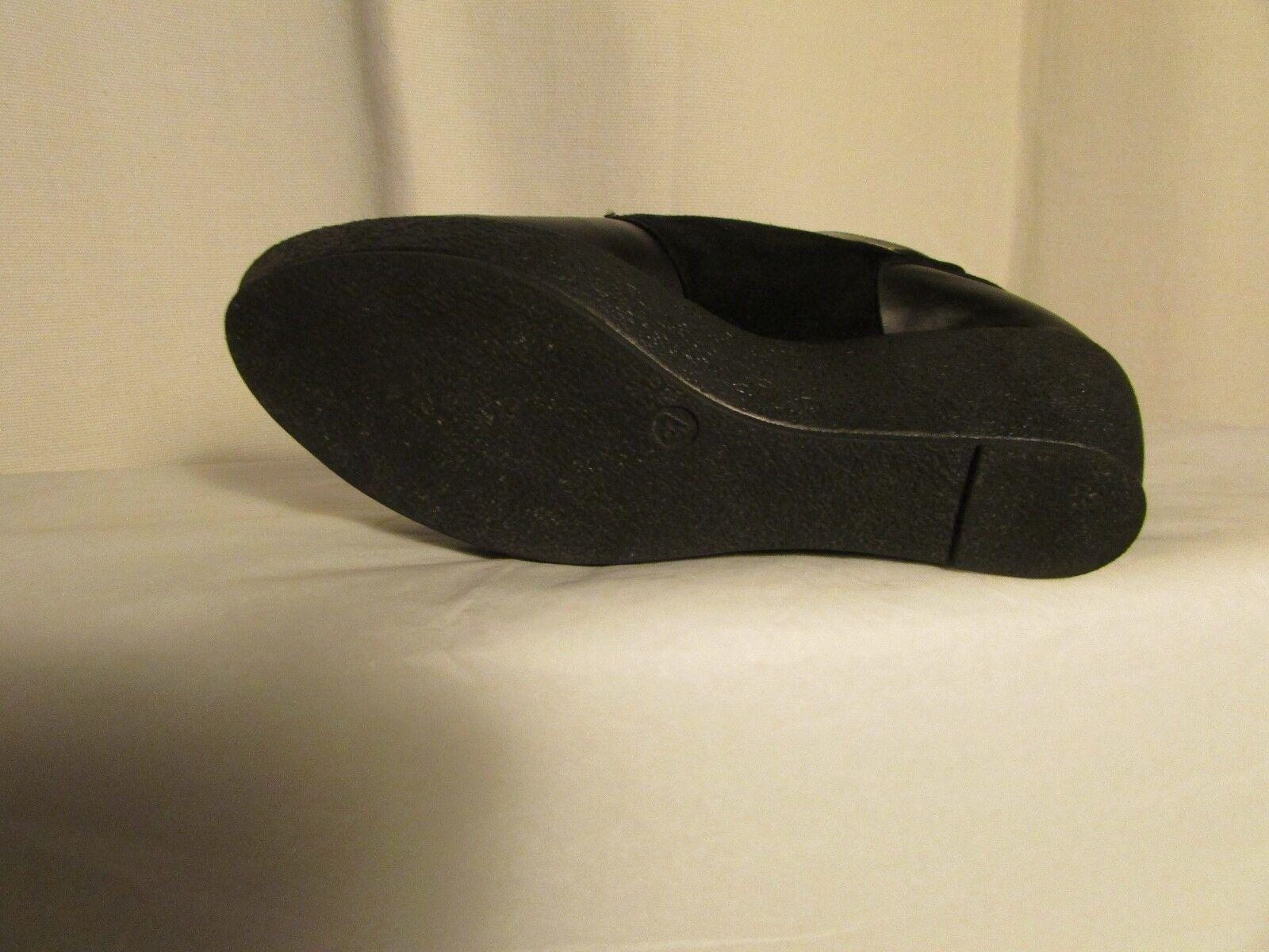 Bottines compensées MALOLES MALOLES MALOLES  cuir et daim negro pointure 37 25d6c9