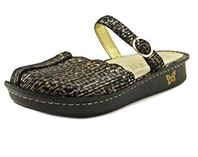 Alegria Womens Leather Mary Jane Flats Tuscany Leopard Stripe 10.5 Medium