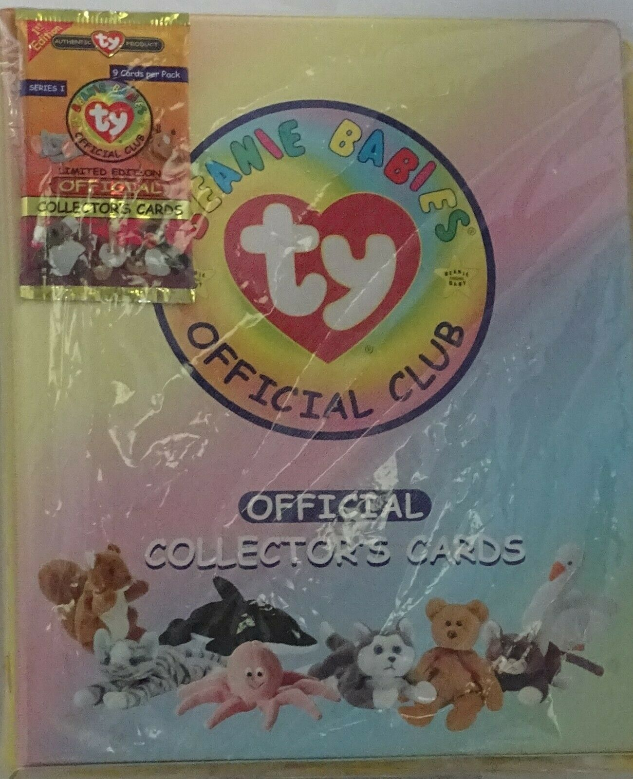TY Trading Card Beanie Official Collector Notebook Organizer Club 1998 Binder 1