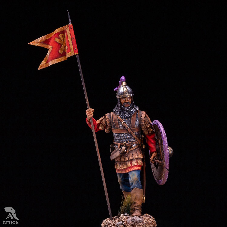 Bizantino fanteria pesante 54mm 1 32 Tin Pitted giocattolo SoldierArte
