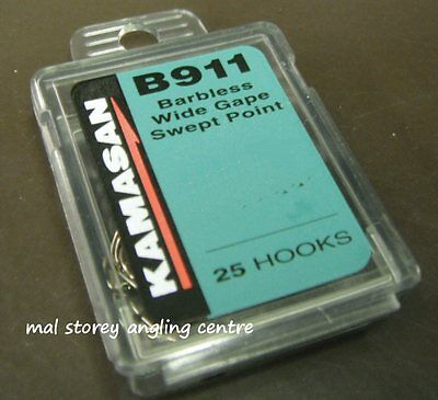 Kamasan B911 eyed carp match crochets SET//3 har riggers eyed
