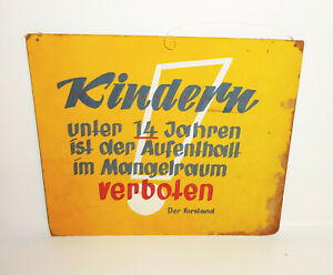 Old-Warning-Sign-Stay-Prohibition-Mangelraum-GDR-1960er-Hand-Painted