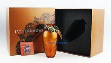 JAY STRONGWATER MERRITT LILY PAD VASE FLORA SWAROVSKI CRYSTALS NEW ORIGINAL BOX