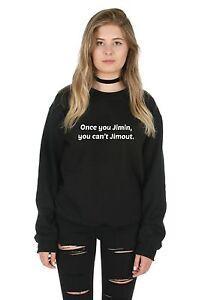 Treu Once You Jimin You Can't Jimout Sweater Top Jumper Sweatshirt Bts Kpop Fangirl Damenmode Pullover & Strick