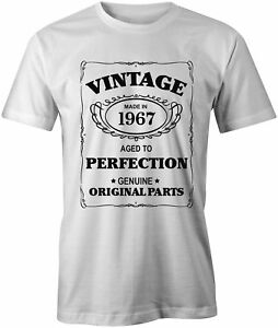 e36007efb Aged To Perfection Mens 1967 T-Shirt Born 51st 51 Year Birthday Age ...