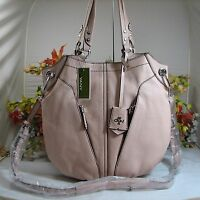 Versatile Oryany Victoria Large Misty Rose Pebbled Leather Satchel/x-body Bag
