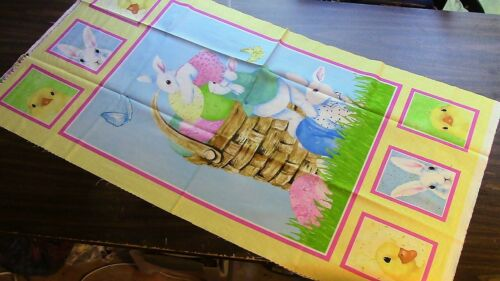 E873 Easter Basket Fabric Panel for Quilting or Sewing 100/% Cotton