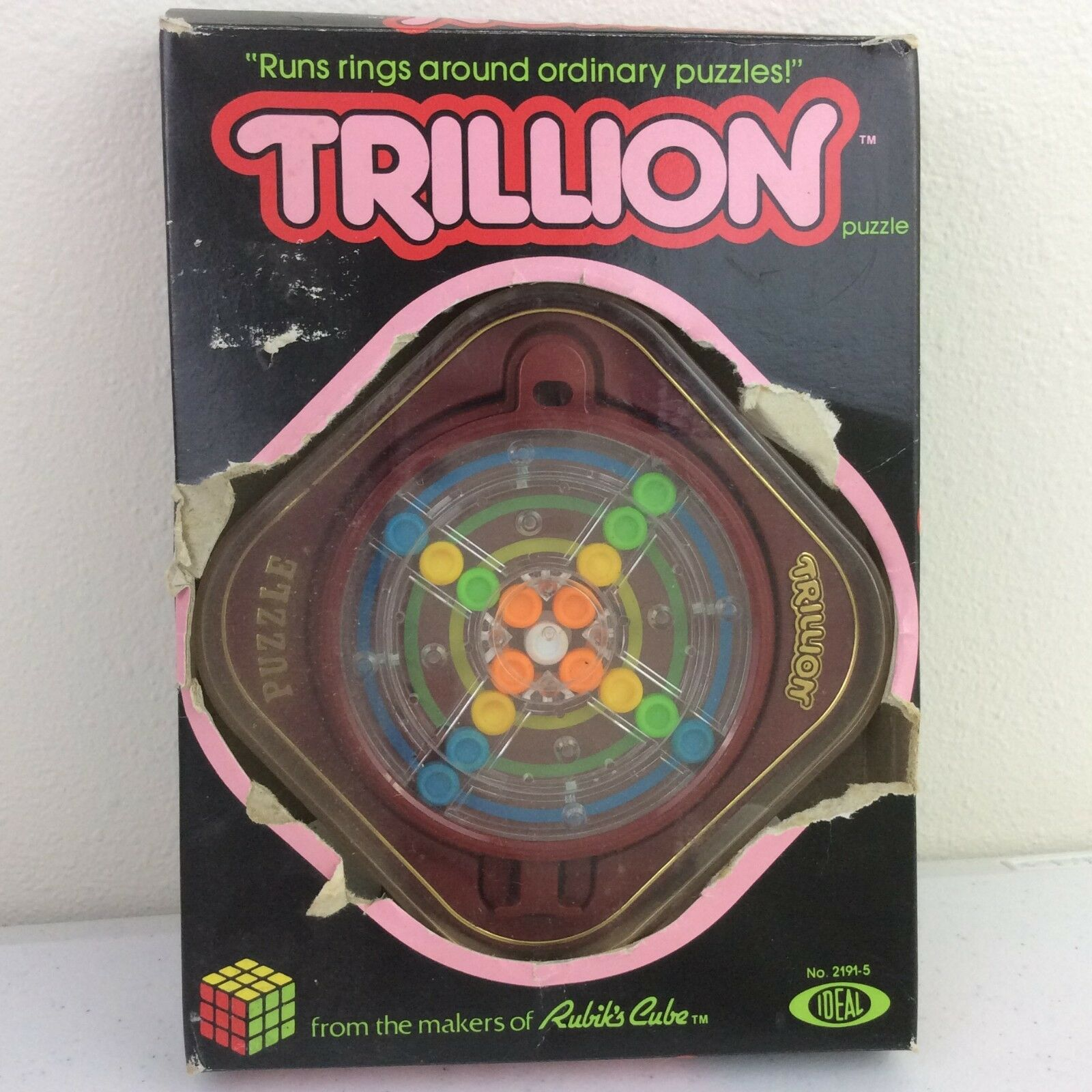 1982 Ideal Toys Trillion Puzzle Game w/ Box Instructions & Instructions Box a26b7d