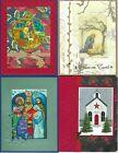 Handmade RELIGIOUS CHRISTMAS CARDS #CR8--Lot of 4