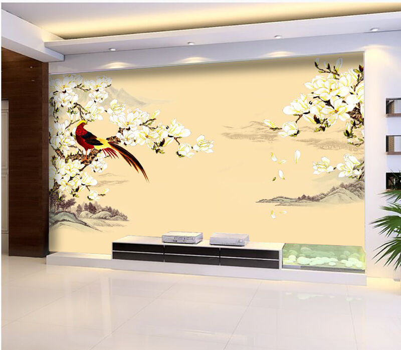 3D Flowers & Farbe Birds 887 Paper Wall Print Wall Decal Wall Deco Indoor Murals