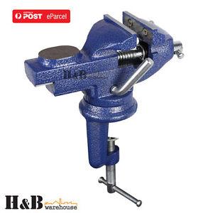 Hd 60mm 360º Swivel Portable Table Bench Vice Clamp Mini Vise Anvil