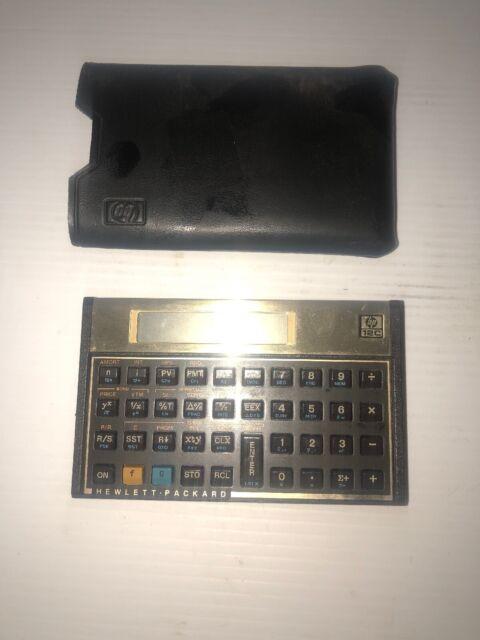 Hewlett Packard HP 12C Financial Calculator Needs New Battery