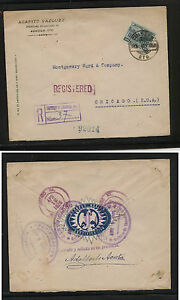Mexico registered cover to US 1926 many markings MM0525
