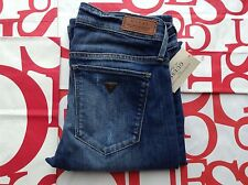 Guess Boot Low Snyder Wash Jeans Medium Blue With Destroy Size 24